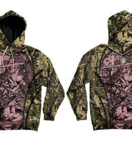 Odyssey Camo Olifant Pink Hoodie