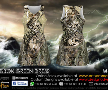 Springbok Green dress