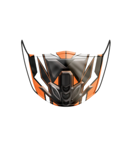 Face Mask: Bike Orange
