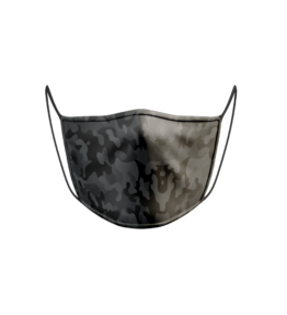 Face Mask: Camo Army Black