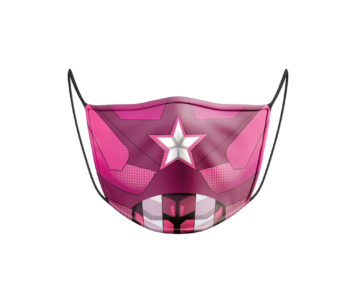 Face Mask: Captain America Pink