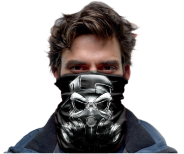 Scull Gas Mask Black