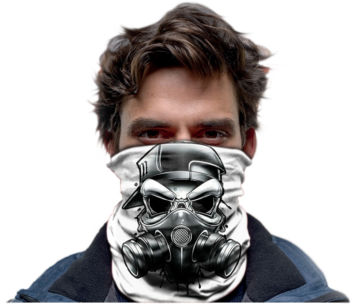 Scull Gas Mask White