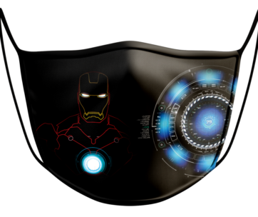 Face Mask: Iron Man Outline
