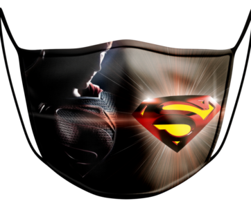 Face Mask: Superman Black