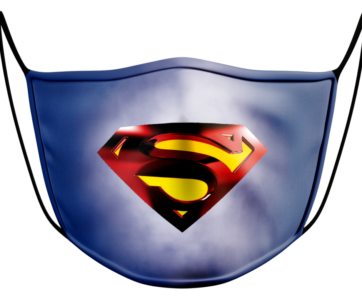 Face Mask: Superman Blue