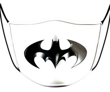 Face Mask: Batman Logo White