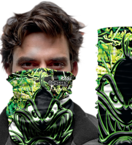 Face Wear: Design # 28 RAGE Green