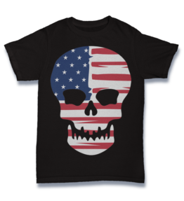 Cartoon T's: American Skull (Copy)