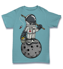 Cartoon T's: Astronaut Fishing