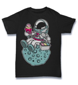 Cartoon T's: Astronaut Ice Cream