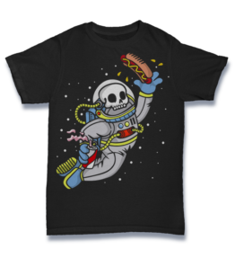 Cartoon T's: Astronout Skull