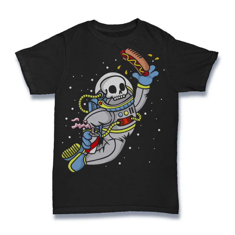Astronout Skull Tshirt