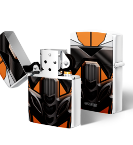 Zippo type Lighter: Bike Orange