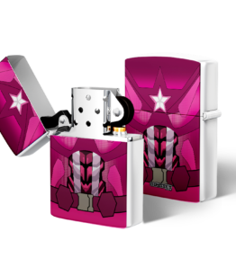 Zippo type Lighter: Captain America Pink