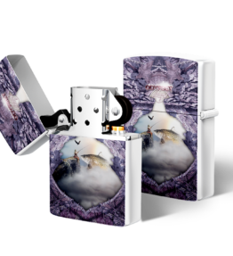Zippo type Lighter: Design #19 Purple
