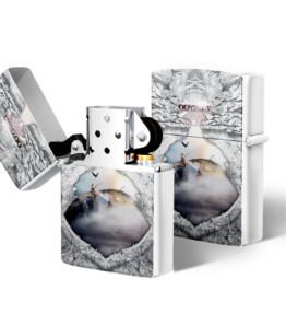 Zippo type Lighter: Design #19 White