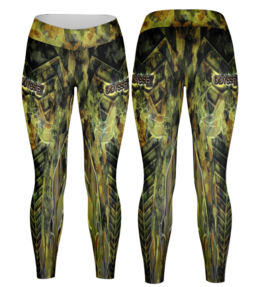 Odyssey Camo Leggings - Buffel Green