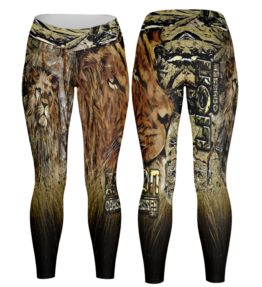 Odyssey Camo Leggings - Grass Lion