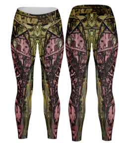 Odyssey Camo Leggings - Olifant Pink