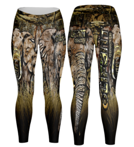 Odyssey Camo Leggings - Grass Elephant