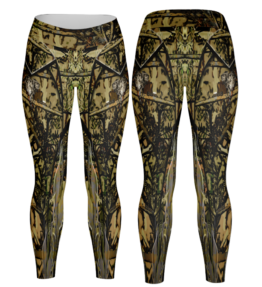 Odyssey Camo Leggings - Olifant Green