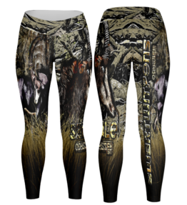Odyssey Camo Leggings - Grass Sable