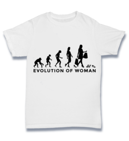 Simple T - Female woman Evolution