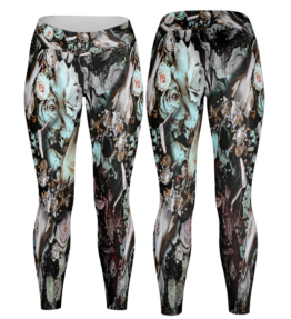 Odyssey Leggings | Floral Scull D#2