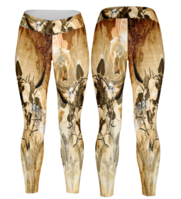 Odyssey Leggings | Floral Scull D#3