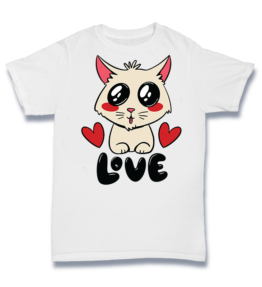 Simple T - Love Cute Cat