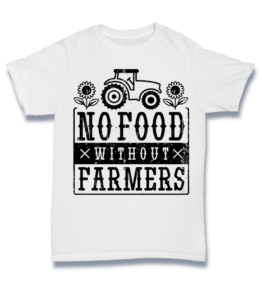 Simple T - No Food Without Farmers