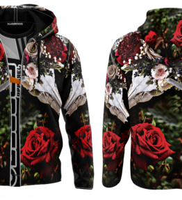 Odyssey Hoodie | Floral Scull D#1