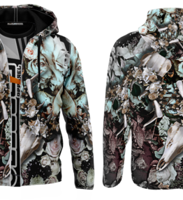 Odyssey Hoodie | Floral Scull D#2